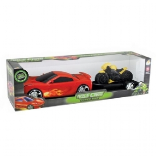 Carro Race Cars Com Moto Super Bike